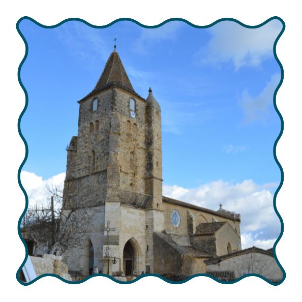Lavardens Clocher église